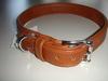 Halsband - flach - braun 70 cm Länge / 3,0 cm Breite - SONDERPREIS statt 34,95 €. Bild vergrö�ern