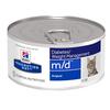 Prescription Diet Feline m/d feingehackt mit Leber  - 24x Dosen a 156 g für Katzen. Bild vergrö�ern